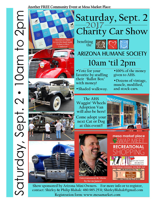 Annual Charity Car Show Mesa Market Place Swap Meet - Mesa car show